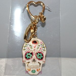 "BETSEY JOHNSON ""SKULL"" KEY CHAIN"